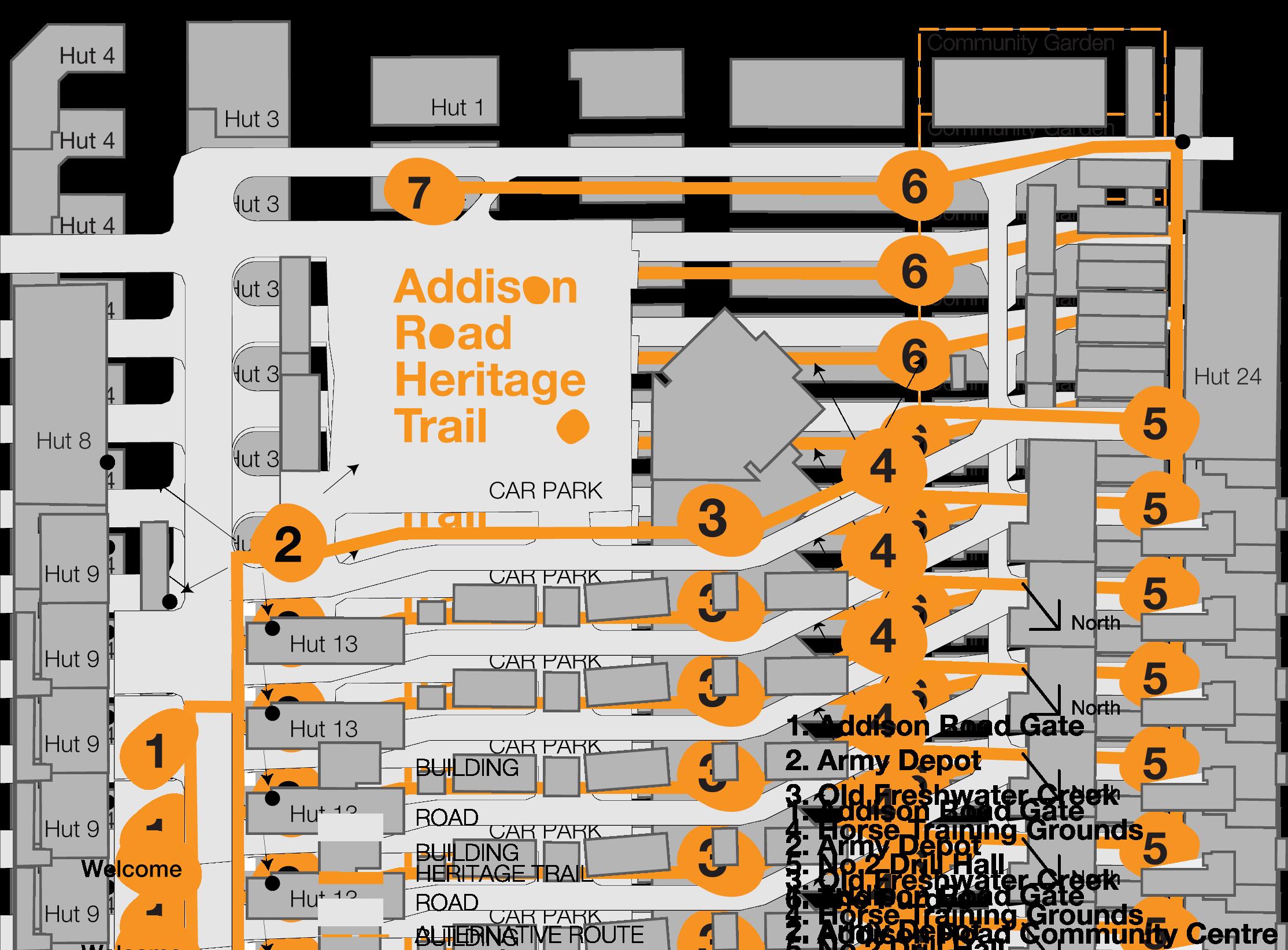 Addi Road Living Museum Heritage Trail map