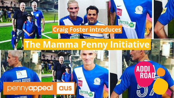 Ex-Socceroo Craig Foster to introduce the Mamma Penny initiative!