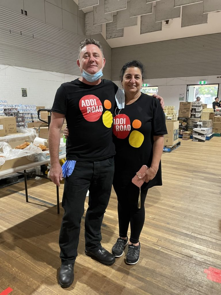 Damien Moore with Mary Savva, who was acknowledged in the Amy Large Volunteer Awards 2021.