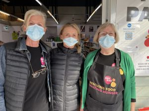 Annerie, Kerrie and Robyn. Addi Road Food Pantry volunteers, 8 July 2021.