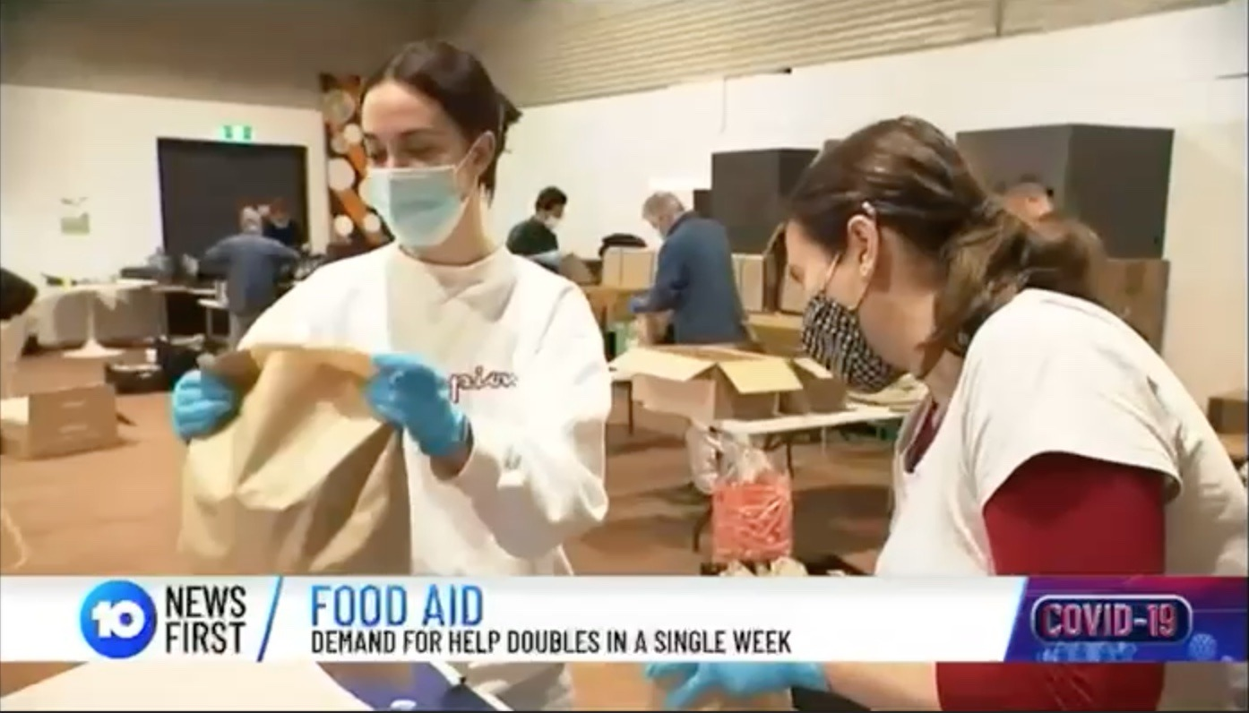 Addi Road's 2021 Food Relief efforts covered on 10 News First